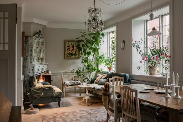 Фото №6 - Атмосферная квартира с изразцовой печкой в Стокгольме