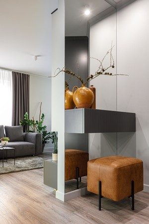 Фото №6 - Нескучная серая квартира в Гродно 65 м²