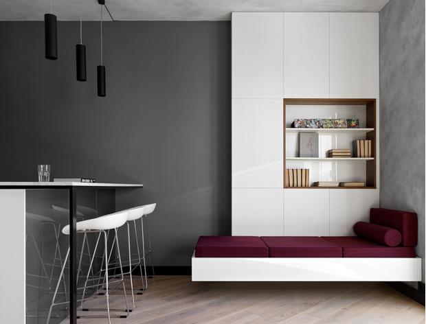 Фото №4 - Апартаменты в стиле минимализм на Маяковской