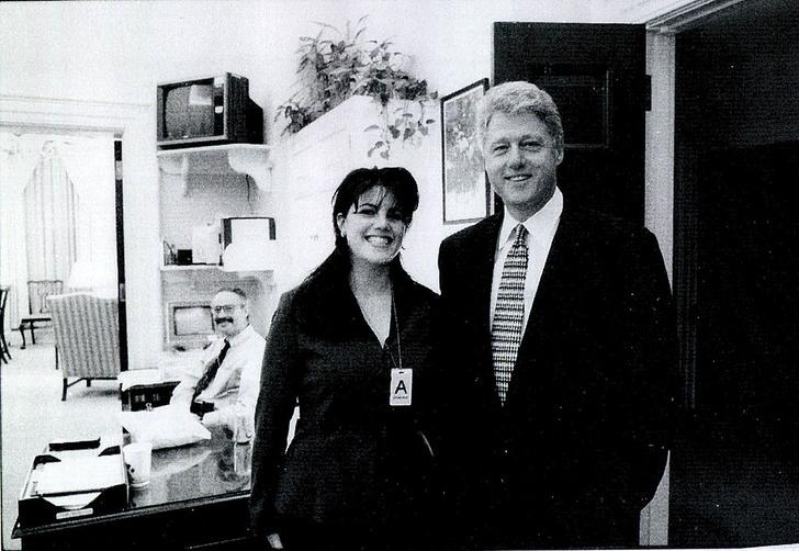 билл клинтон и моника левински видео синее платье скандал