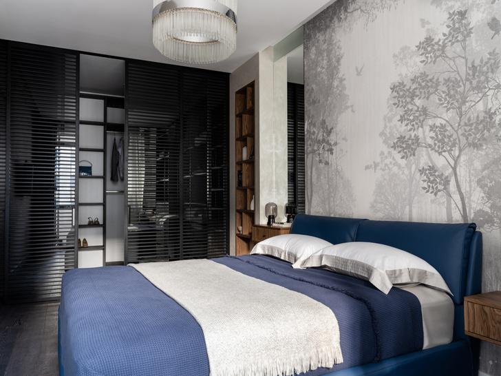 Фото №10 - Московская квартира 120 м² с красно-синими акцентами