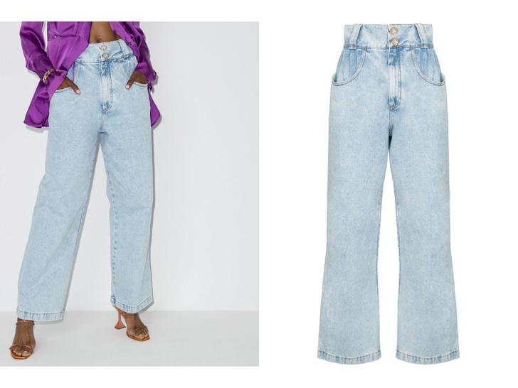 Фото №8 - Голубые джинсы— самая главная покупка лета. Рассказываем, на какие модели обратить внимание