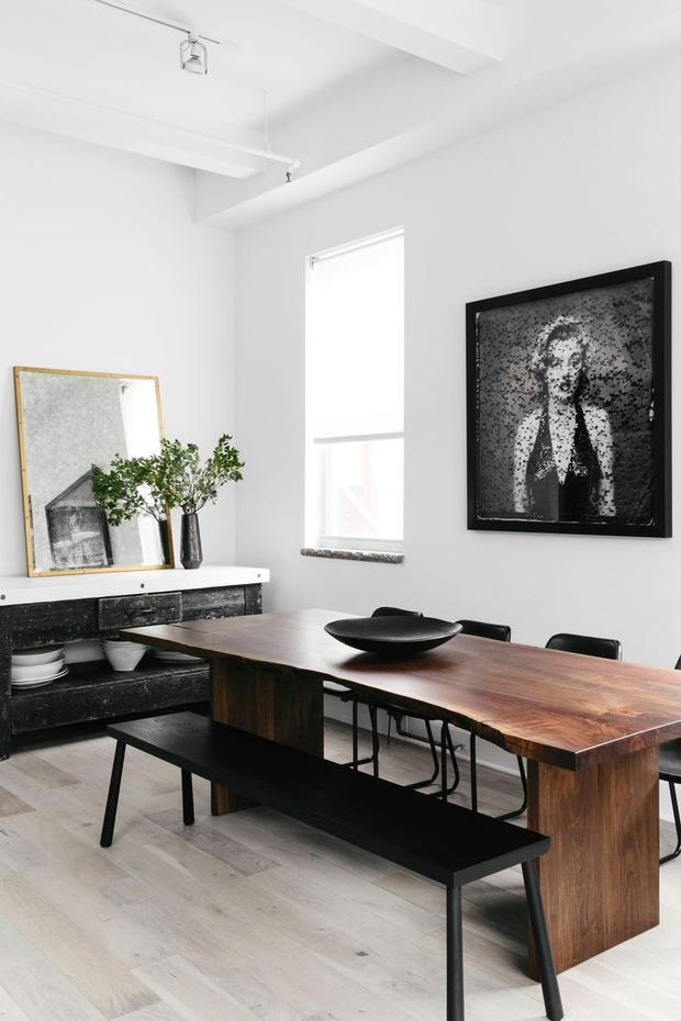 Фото №11 - Модная деталь: банкетки и скамейки в столовой