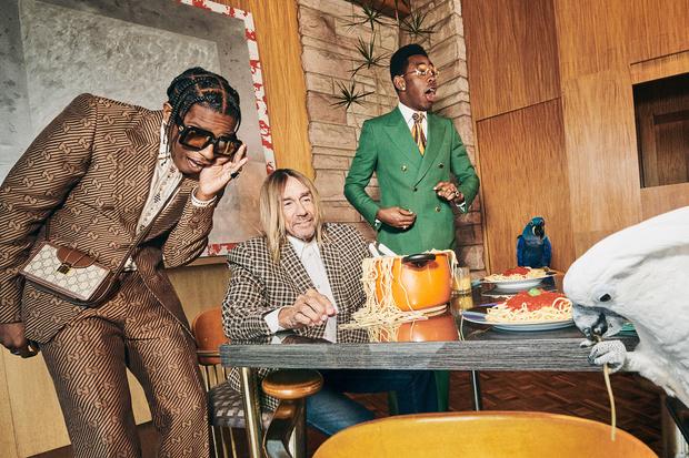 Фото №2 - A$AP Rocky, Игги Поп и Tyler, The Creator в новой рекламной кампании Gucci. И это очень стильно!
