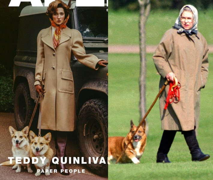 Фото №4 - Первая модель-трансгендер Chanel предстала в новой фотосессии в образе Елизаветы II