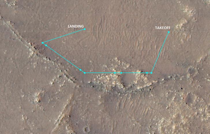 Фото №2 - Марсианский вертолет NASA совершил 10-й полет