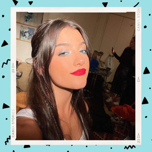 Фото №1 - Красная помада и сияющие тени: трендовый осенний макияж от Чарли Дамелио