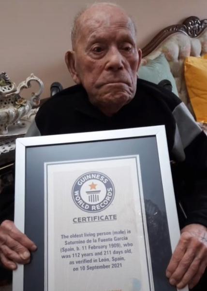старейший в мире мужчина