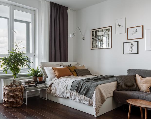 Фото №12 - Интерьер месяца: уютная квартира 35,7 м² в скандинавском стиле
