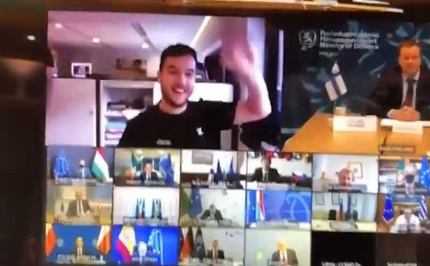 Фото №1 - Голландский журналист подключился к тайному совещанию министров обороны Евросоюза (видео)