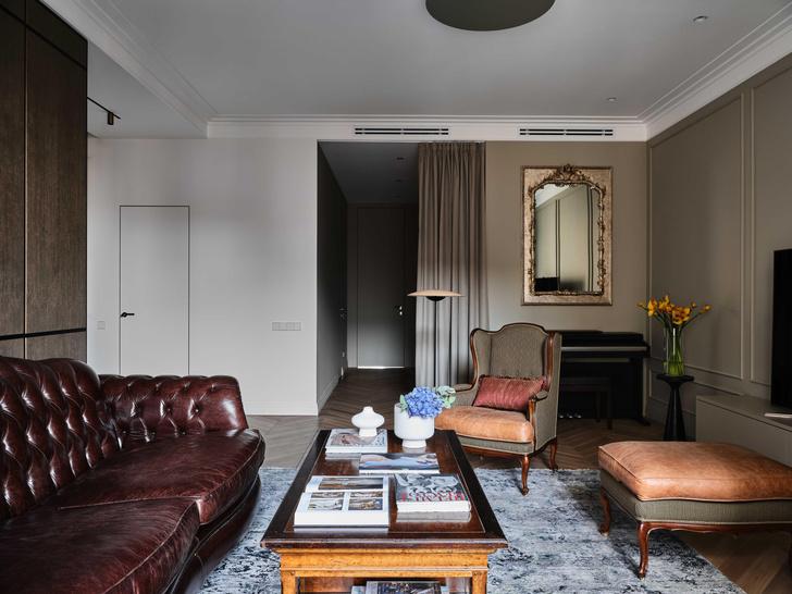 Фото №8 - «Манхэттенская» квартира с винтажной мебелью 136 м²