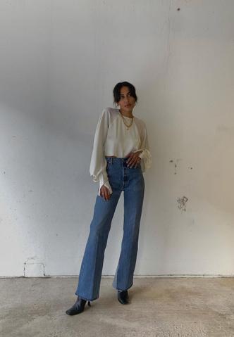 Фото №5 - Тренд: смотри, с чем носить широкие джинсы в 2021