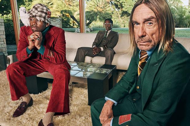 Фото №1 - A$AP Rocky, Игги Поп и Tyler, The Creator в новой рекламной кампании Gucci. И это очень стильно!