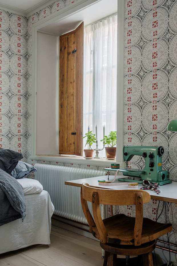 Фото №18 - Атмосферная квартира с изразцовой печкой в Стокгольме