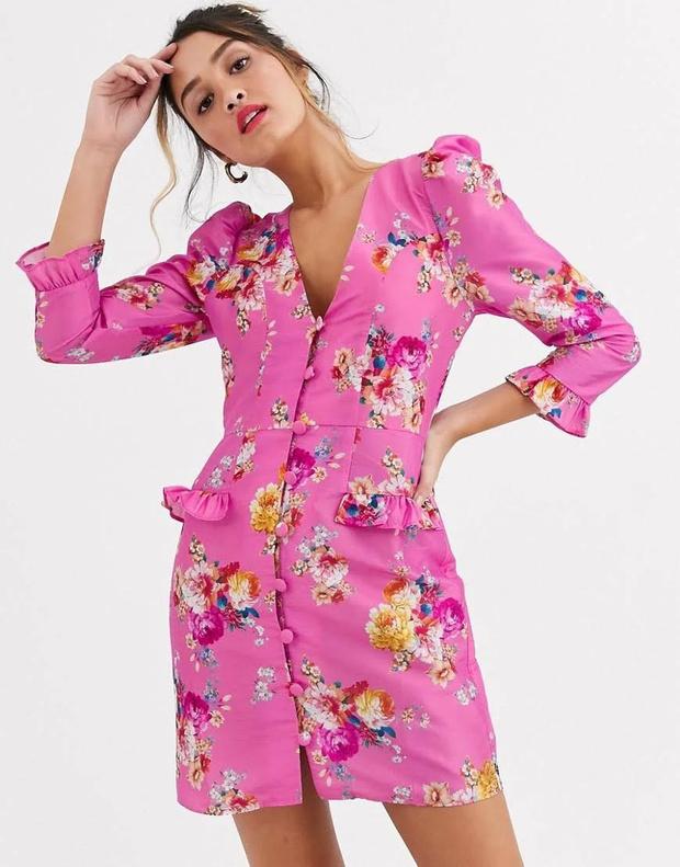 Фото №13 - 15 цветочных розовых платьев как у Селены Гомес в новом видео De Una Vez