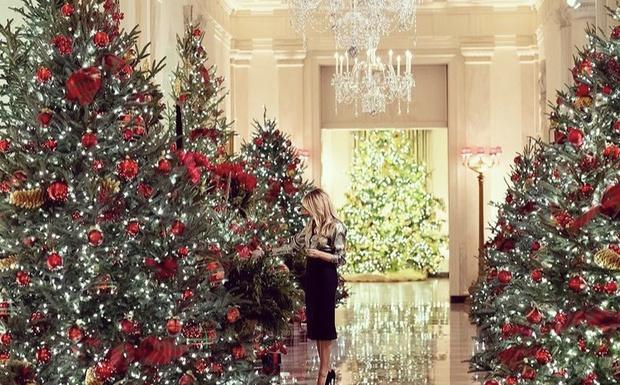 Фото №5 - Невероятно ослепительна: последнее Рождество Мелании Трамп