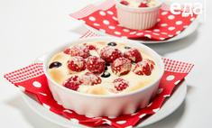 Запеченный сабайон с ягодами от телеканала «Еда»