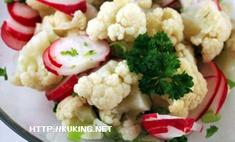 Салат из цветной капусты с редисом