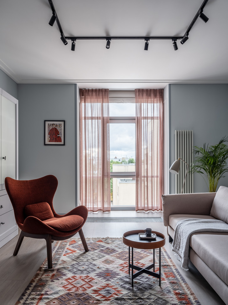 Фото №8 - Квартира 100 м² в оттенках зелени, моря, песка и заката