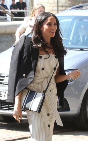 Фото №8 - Их модные Высочества: лучшие парные образы Меган и Гарри