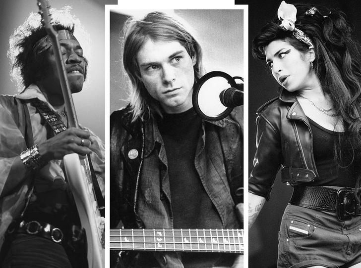 Фото №1 - Проклятие «Клуба 27»: легенды музыки, которые умерли слишком рано