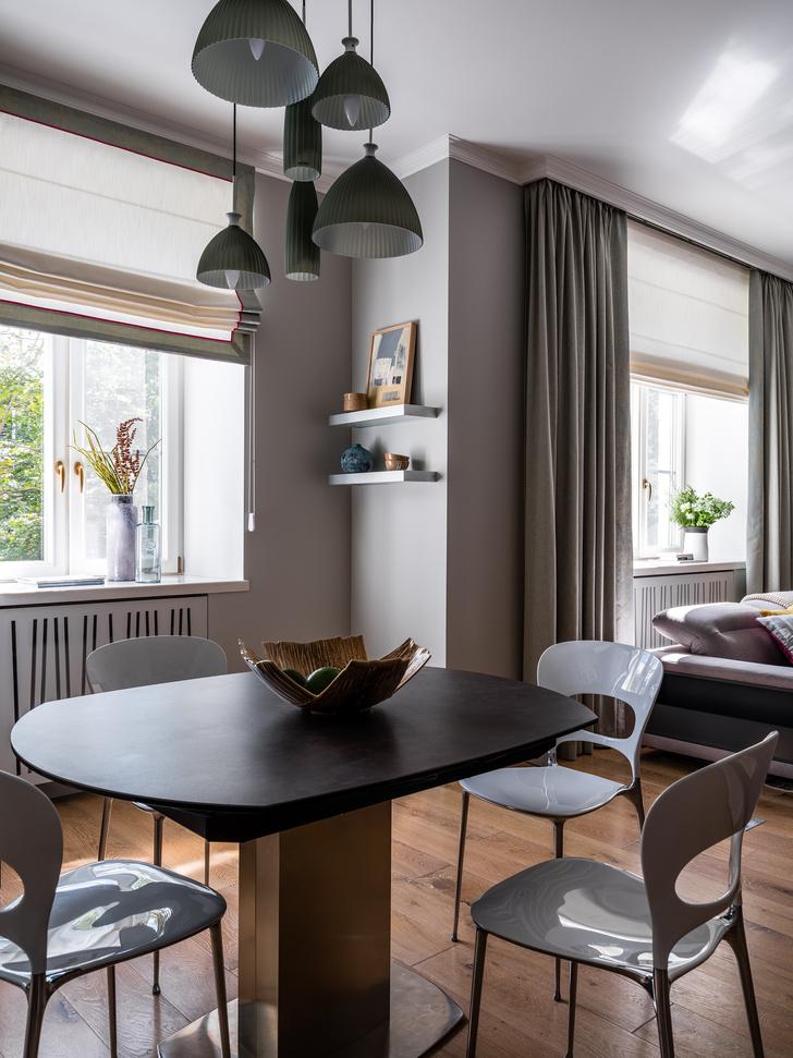 Фото №5 - Московская квартира 90 м² в серо-голубых тонах