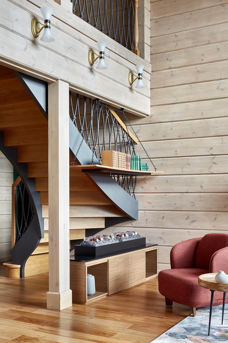 Фото №6 - Деревянный дом в стиле кантри