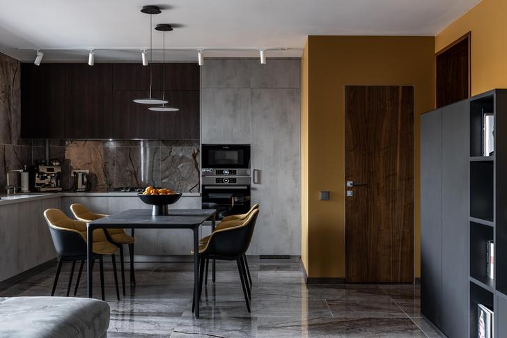 Фото №6 - Серый + горчица: уютная квартира 108 м² в Самаре