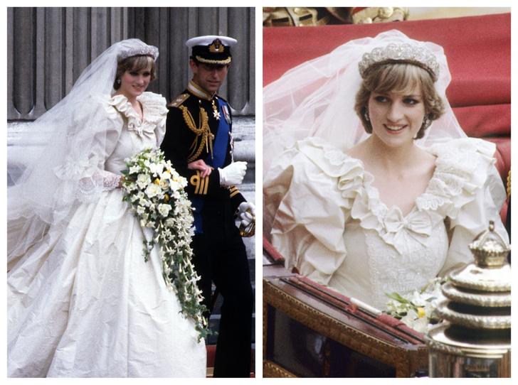 Фото №1 - Неизвестная история свадебной фаты принцессы Дианы