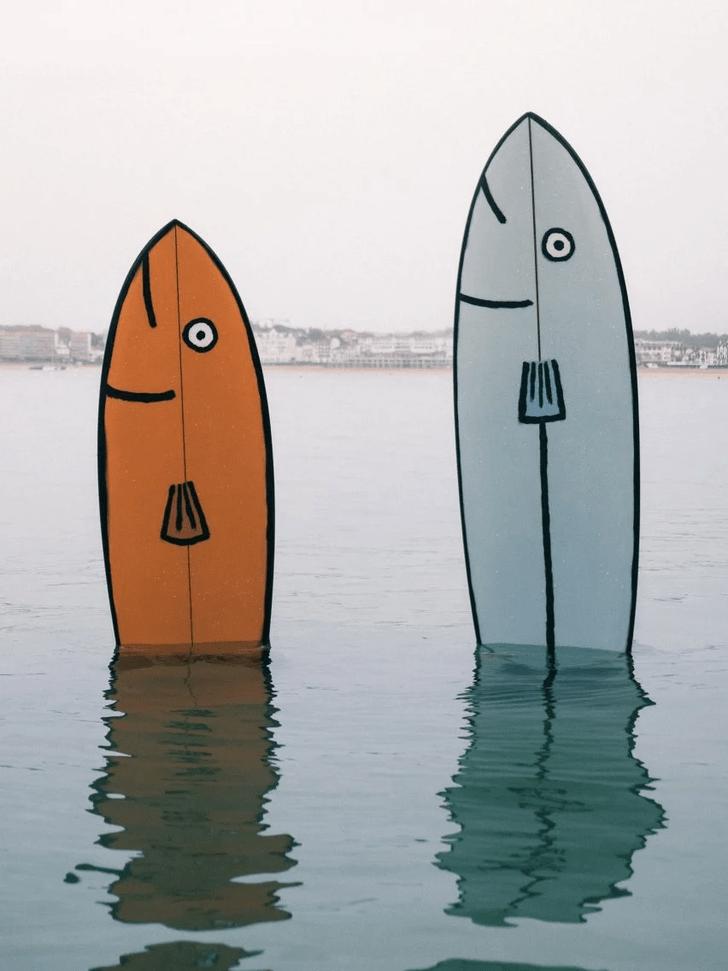 Фото №4 - Крупная рыба: доски для серфинга в виде морских животных