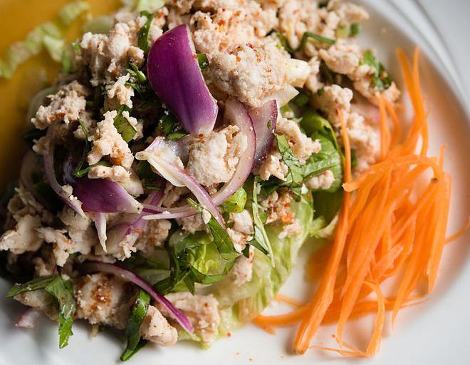 салат ольга с курицей и омлетом