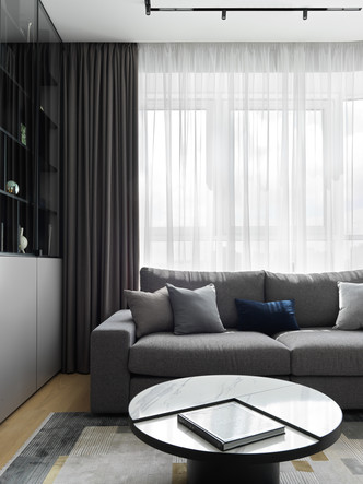 Фото №6 - Монохромная квартира 57 м² для молодой пары в Москве