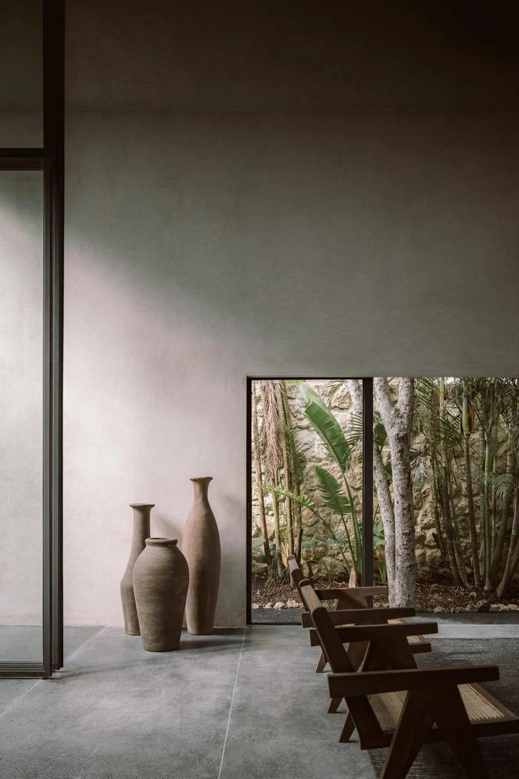 Фото №4 - Бруталистская бетонная вилла в джунглях Тулума