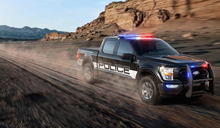 Фото №1 - 200 км/ч по бездорожью: Ford показал новый пикап для копов