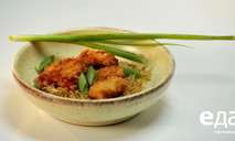 Треска в кляре с рисом в азиатском стиле