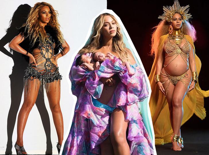 Фото №1 - Не рискнете повторить: самые скандальные образы Бейонсе— от «голых» платьев до нимба