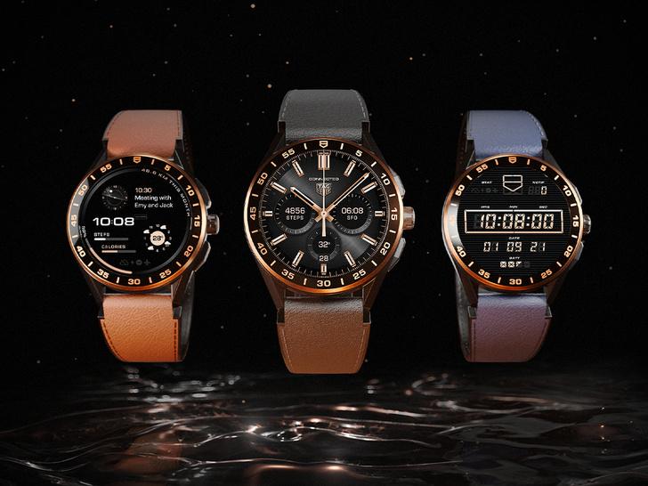 Фото №1 - Роскошь золота: как выглядят новые смарт-часы TAG Heuer Connected