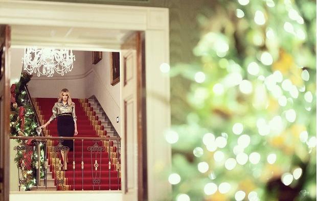 Фото №3 - Невероятно ослепительна: последнее Рождество Мелании Трамп