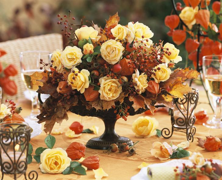 цветы из листьев