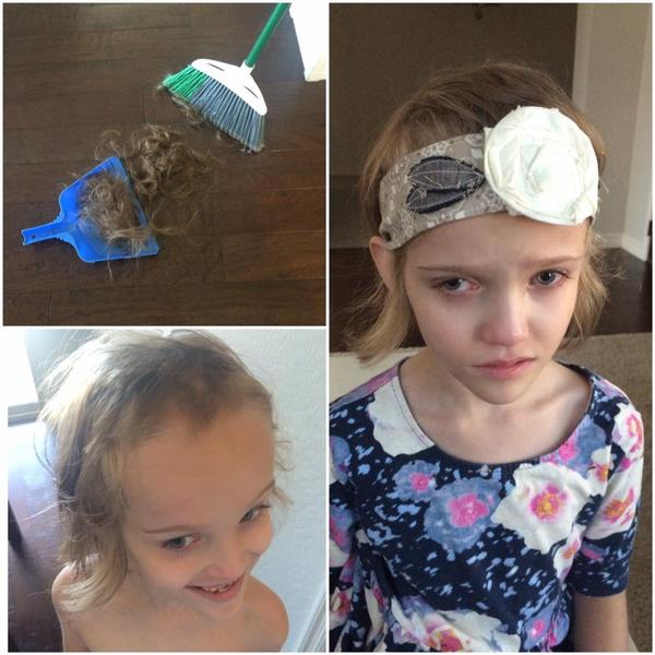 Фото №3 - 100 эпичных фото детей, решивших постричь себе волосы
