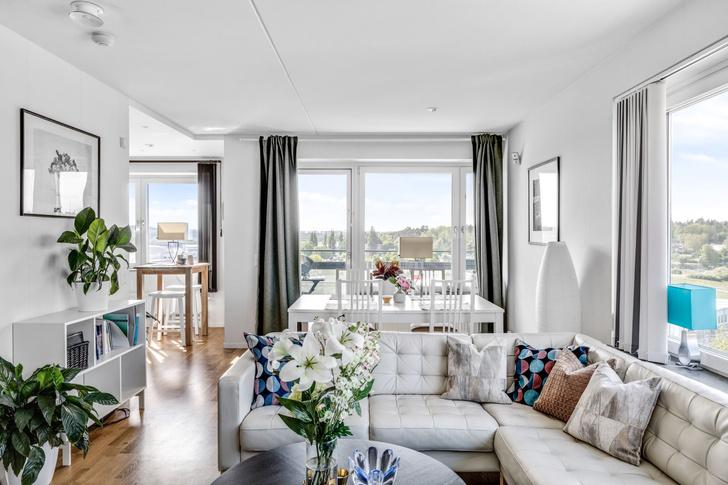 Фото №1 - Квартира 84 м² в светлых тонах в Стокгольме