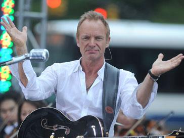 Стинг (Sting) дал бесплатный концерт в Санкт-Петербурге