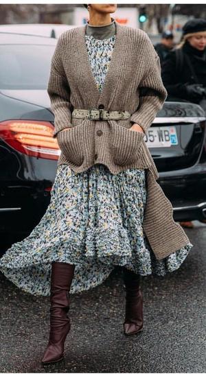 Фото №3 - Вопрос дня: как носить летнее платье зимой