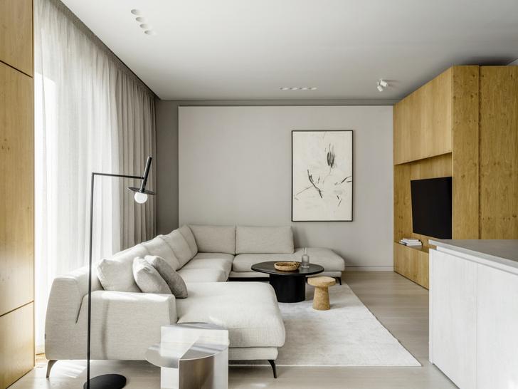 Фото №1 - Светлый, воздушный интерьер квартиры 142 м² в Москве