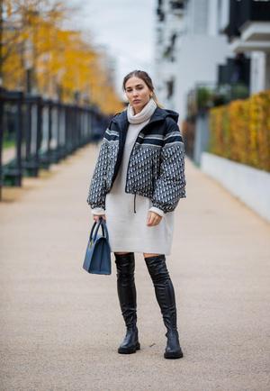 Фото №2 - Платье-свитер: какое купить и с чем носить в 2021