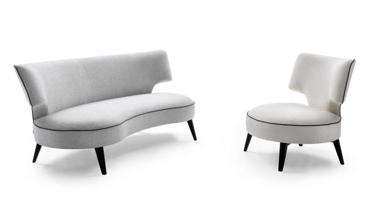 Диван и кресло Drop 20, дизайн Роберто Лаццерони, Flexform Mood.