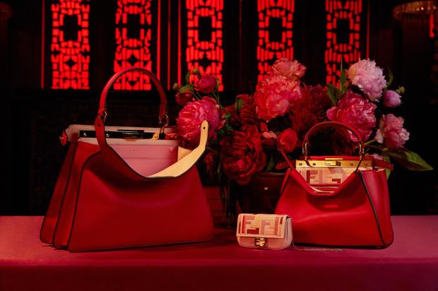 Фото №4 - Драматический красный: бренд Fendi выпустил коллекцию к китайскому Новому году