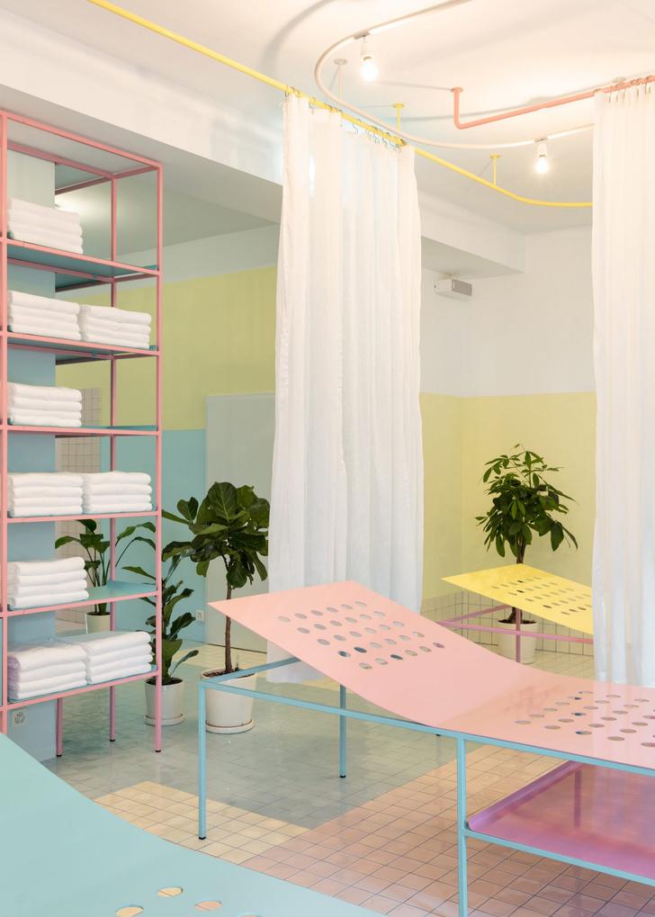 Фото №2 - Спа-центр в пастельных тонах в Женеве