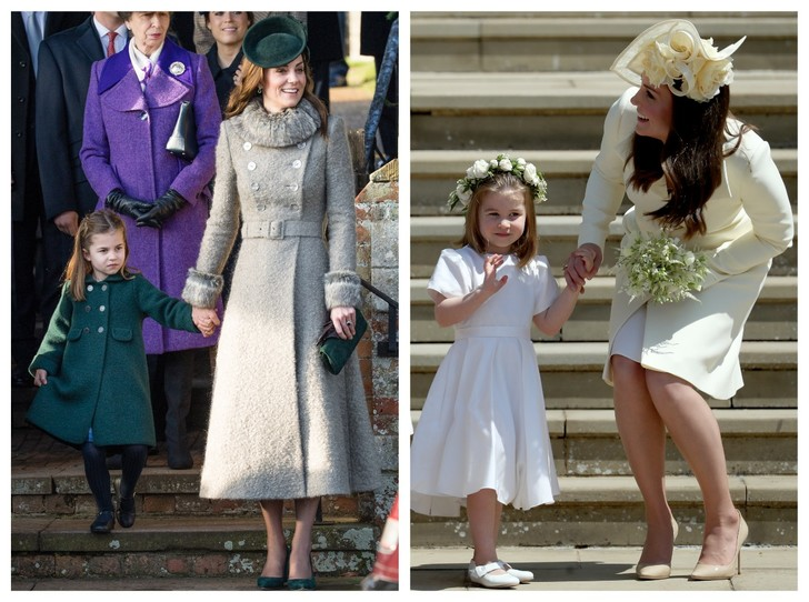 Фото №1 - Мамина дочка: 11 раз, когда Кейт и Шарлотта появлялись в парных образах