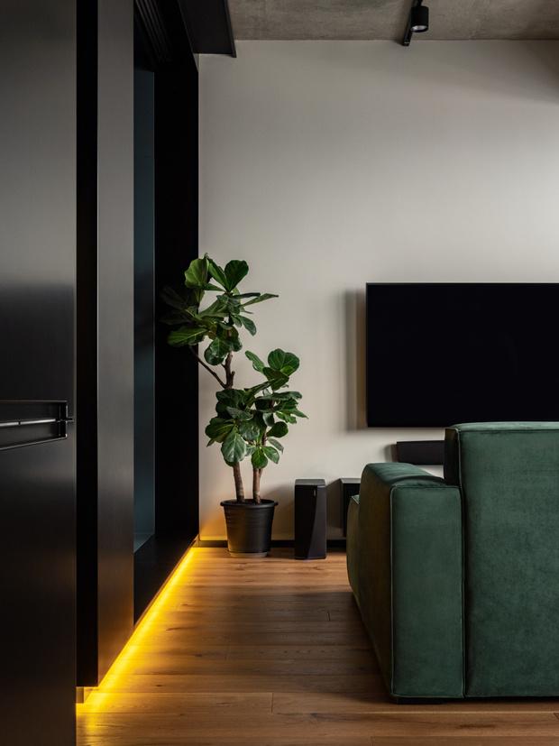 Фото №5 - Маленькая квартира в оттенках черного и серого